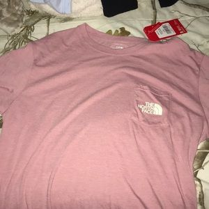 The North Face Tops - North Face Pink TShirt - NEVER WORN